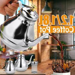 1.8L 5-10 Cups Coffee Tea Maker Pot Maker Kettle Stainless S
