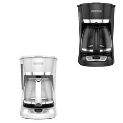 12-Cup Glass Carafe QuickTouch Programmable Coffee Maker Hom