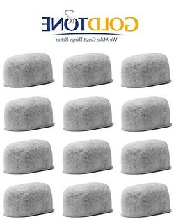 12-Replacement Charcoal Water Filters For Cuisinart Coffee M