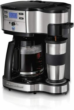 Single Serve Coffee Maker 12 Cup Pot Stainless Steel 2 Way B