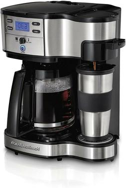 2-Way Brewer Coffee Maker, Single-Serve and 12-Cup Pot, Stai