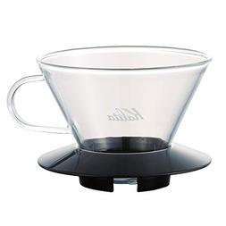 Kalita 05039 Glass Wace Dripper 185 Black Coffee Dipper, 82