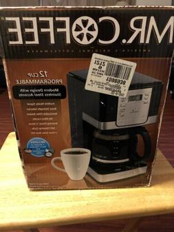 Mr. Coffee DWX23-RB 12-Cup Programmable Coffeemaker, Black