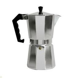 Aluminum Stovetop Espresso Coffee Maker 6 cup New Free Shipp
