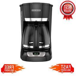 BLACK+DECKER 12-Cup QuickTouch Programmable Coffeemaker, Bla