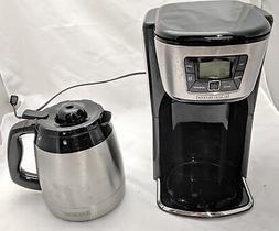 BLACK+DECKER 12-Cup Thermal Coffeemaker, Black/Silver, CM203