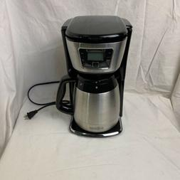 Black & Decker CM2035B 12-Cup Thermal Coffeemaker, Black/Sil