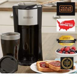 BLACK+DECKER CM618 Single Serve Coffee Maker, Black Compact