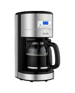 Aicok Coffee Maker 12 Cups Programmable Timer Pot Reusable F