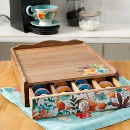 Pioneer Woman Coffee Pod Organizer Coffee Maker Stand With 4
