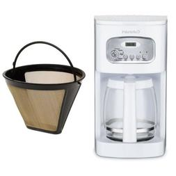 Cuisinart DCC-1100 12-Cup Programmable Coffeemaker, White, a