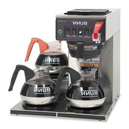 Cwtf-3 Three Burner Automatic Coffee Brewer, Stainless Steel