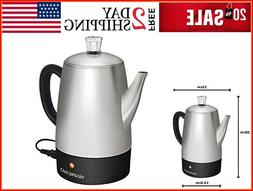 Electric Coffee Percolator Stainless Steel Coffee Maker Elec
