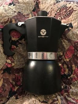 Espresso Maker Coffee Mocha  Pot Black Stovetop Aluminum