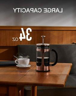 French Press Coffee Tea Maker, 304 Stainless Steel Coffee Pr