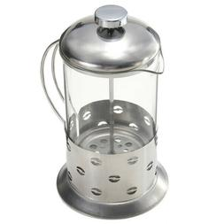 French Press Shatter Proof Coffee & Tea Maker w/ Stainless S