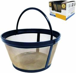 GoldTone Reusable 8-12 Cup Basket Coffee Filter for Black +