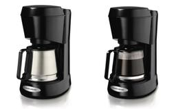 Hamilton Beach 5-Cup Coffee Maker with Carafe, 2 Styles