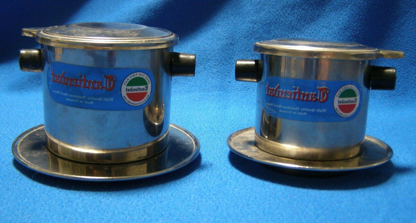 2 stainless steel individual coffee makers filters