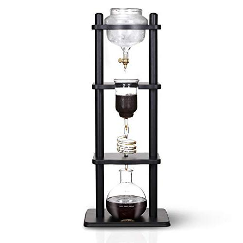 Yama Glass YAMCDM8SBK Coffee Tower with Iced Slow Drip Techn