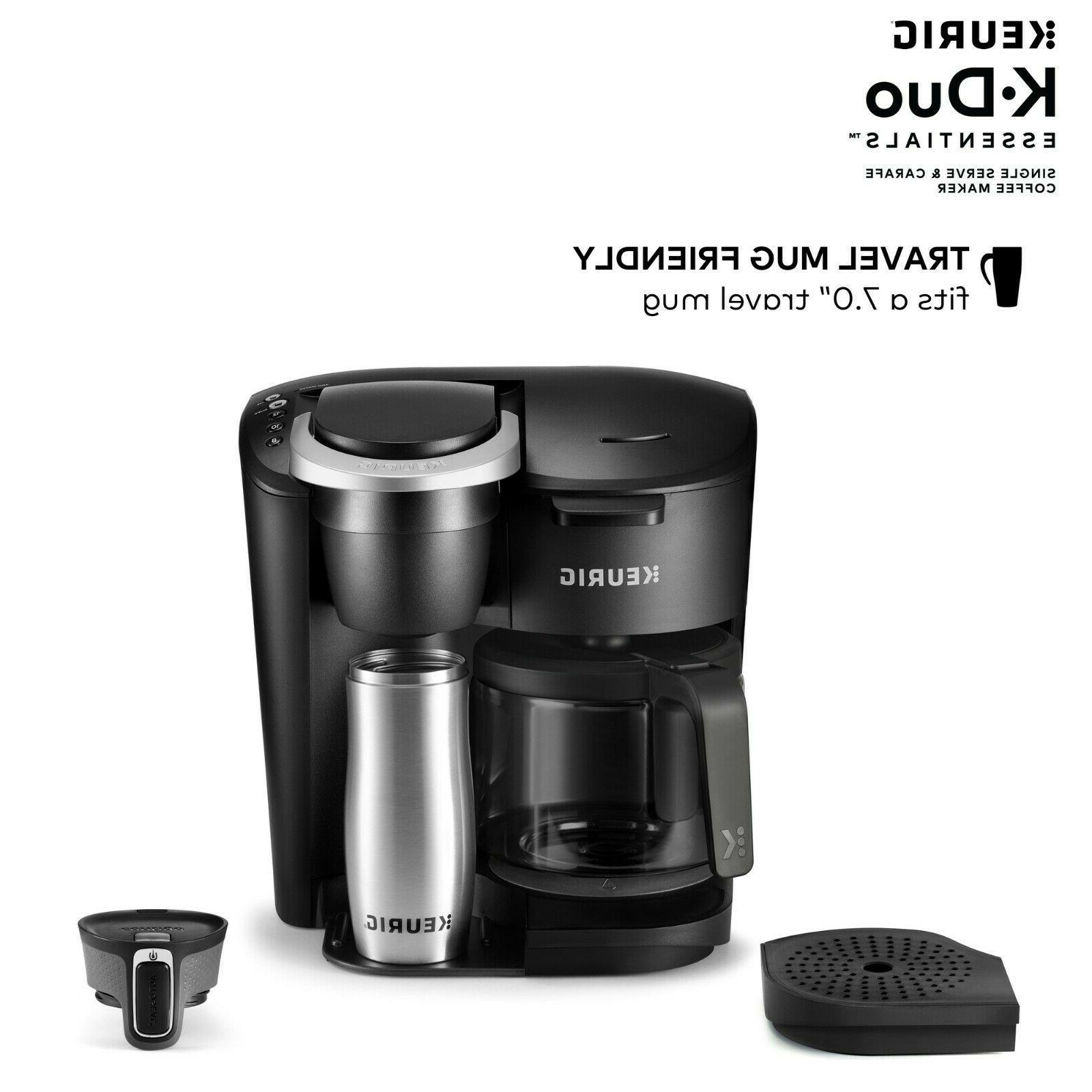 Keurig K-Duo Essentials Coffee Maker, 12 Cup Carafe Brewer,