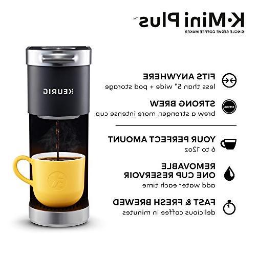 Keurig Serve Pod Coffee Maker, with 6 12oz Brew up to 9 Pods, Matte