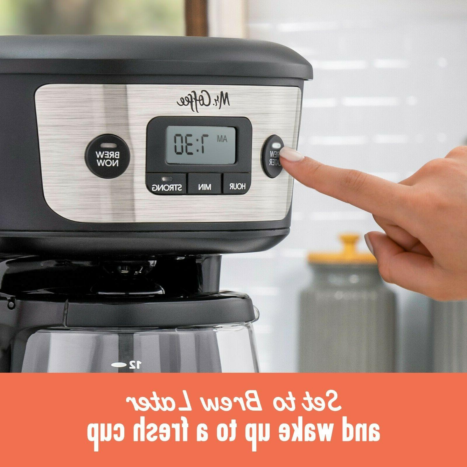 Mr.Coffee 12-Cup Programmable Strong Selector, Steel