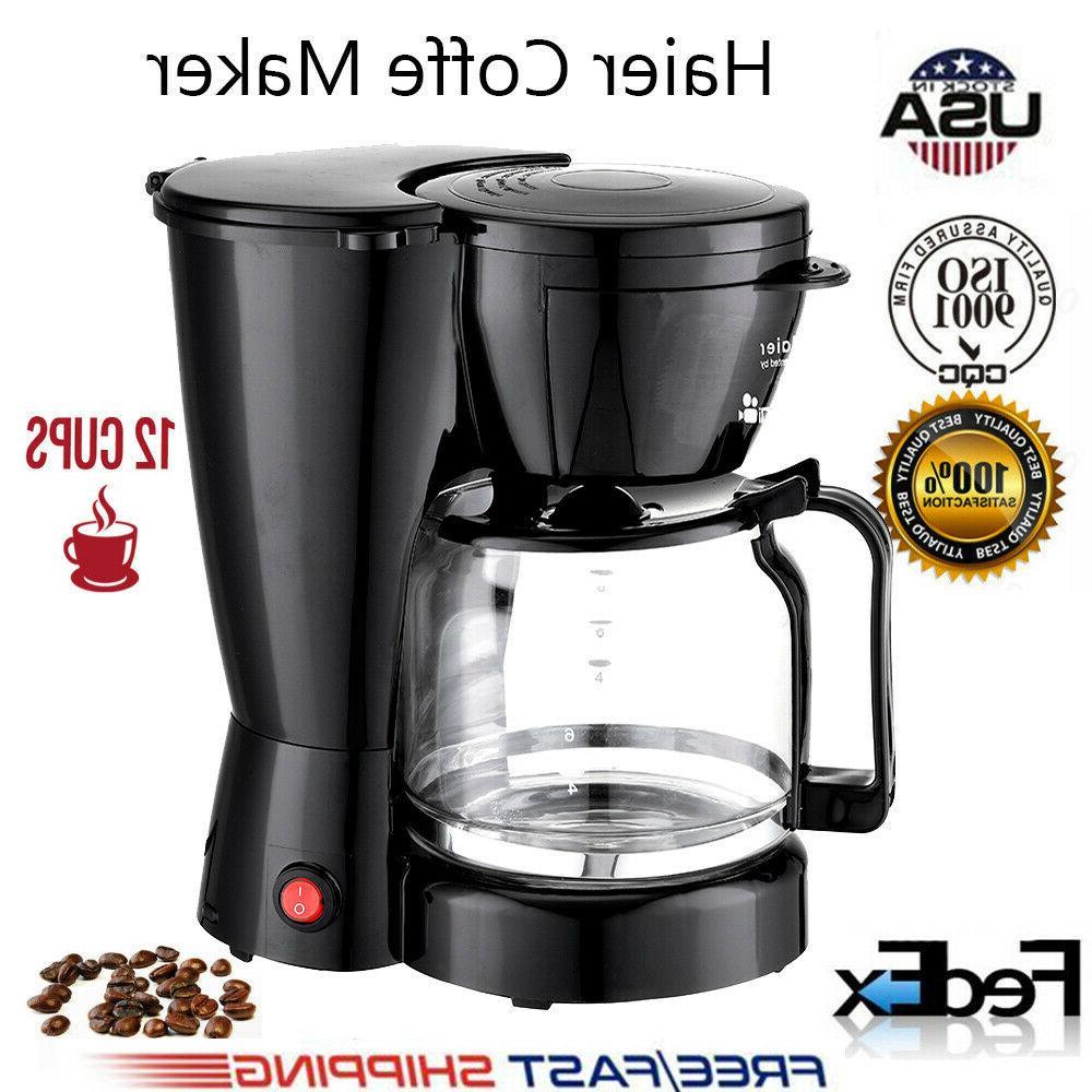 New Coffee Maker 10 Cups Machine Drip Filter Glass Carafe Au