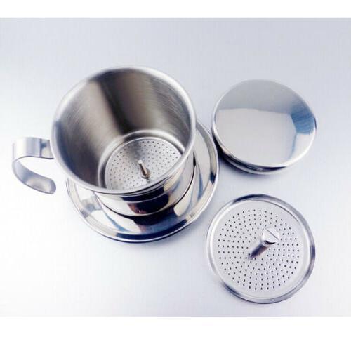 Stainless Steel Vietnam Vietnamese Coffee Maker Filter Set D