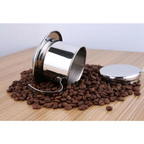 Stainless Steel Vietnam Vietnamese Coffee Maker Filter Set Drip