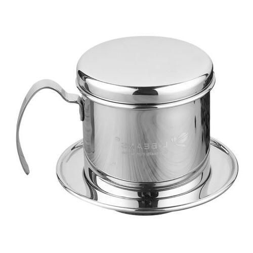 Stainless Vietnam Coffee Maker Filter Set Drip Infuser