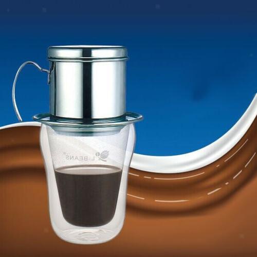 Stainless Vietnamese Coffee Set Drip Infuser