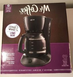 Mr Coffee 12 Cup Switch Coffee Maker Pot Brewer Machine Blac