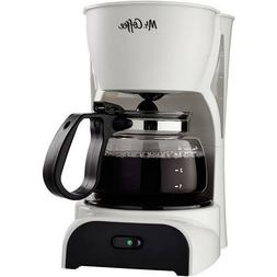 Mr. Coffee DR4 4-Cup Coffee Maker - White