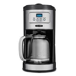 No-Paper Filter Steaming Hot 12-Cup Coffee Maker Programmabl