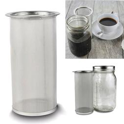 Stainless Steel Cold Brew Coffee Maker Iced Tea Infuser Filt